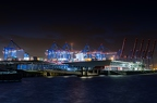 Cruise terminal at night